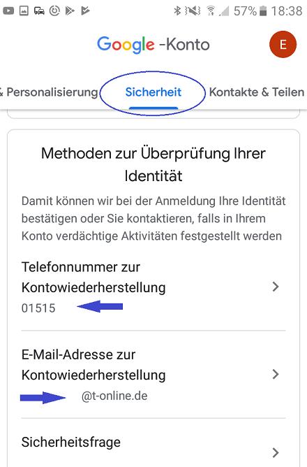 Anmeldung nicht möglich android gmail E