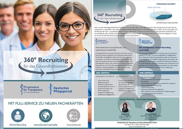 Flyer 360° Recruiting für das Gesundheitswesen